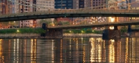 Pittsburgh river with city in background