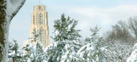 Cathedral of Learning in winter