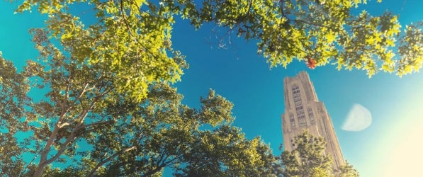 Cathedral of Learning in summer