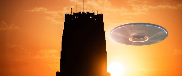 UFO and Cathedral of Learning